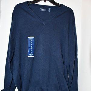 Men's Izod Blue V Neck Sweater Size XLT